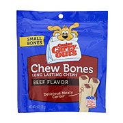 Canine Carry Outs Chew Bones Beef Flavor Small Bones Dog Treats