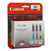 Canon CLI-251 3 Color Pack Ink Cartridges