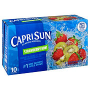 Capri Sun All Natural Ingredients Strawberry Kiwi Juice Drink Blend 6 oz Pouches