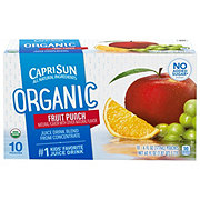Capri Sun Organic Fruit Punch Juice Drink Blend 10 PK