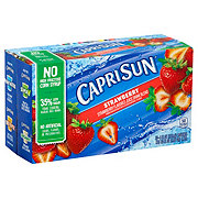 Capri Sun Strawberry Juice Drink Blend 6 oz Pouches