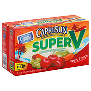 Capri Sun Super V Fruit and Vegetable Fruit Punch Juice Drink 10 PK