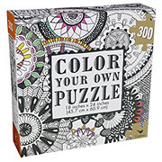 Cardinal Industries 300 Piece Color Your Own Puzzle, Assorted Designs
