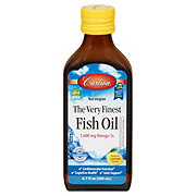 Carlson Very Finest Fish Oil Lemon Flavor Omega 3 Liquid