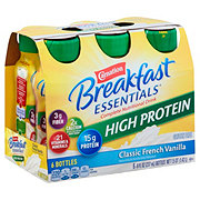 Carnation Breakfast Essentials High Protein Classic French Vanilla Drink 8 oz Bottles