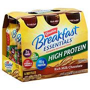 Carnation Breakfast Essentials High Protein Rich Milk Chocolate Drink 8 oz Bottles