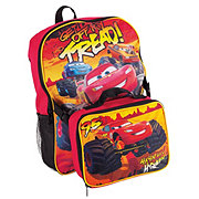 Cars Backpack With Lunch Kit