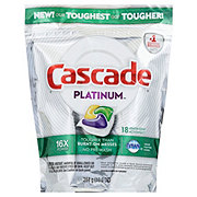 Cascade Platinum ActionPacs Lemon Dishwasher Detergent