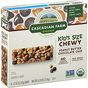 Cascadian Farm Organic Peanut Butter Chocolate Chip Granola Bars Kid-Sized