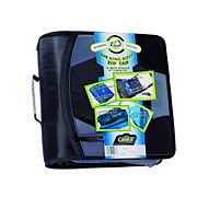 Case-It The King Sized Zip Tab 3 Ring Zipper Binder, Assorted Colors