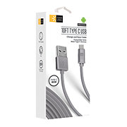 Case Logic C Type Fabric Cable Gray
