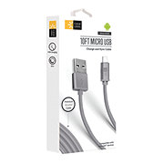 Case Logic Micro Cable Fabric Cable Gray