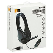 Case Logic Stereo Headset With Boom Mic Black