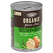 Castor & Pollux Organix Butcher & Bushel Chopped Turkey, Chicken Liver & Garden Fresh Peas Adult Dog Food