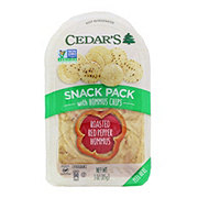 Cedar's Roasted Red Pepper with Hommus Chips Snack Pack