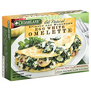 CedarLane Egg White Spinach and Mushroom Omelette