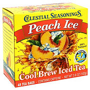 Celestial Seasonings Peach Ice Cool Brew Iced Tea Bags