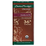 Central Market 36% Organic Cacao Milk Chocolate With Hazelnuts