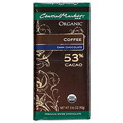 Central Market 53% Organic Cacao Dark Chocolate With Coffee