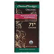 Central Market 71% Organic Cacao Pomegranate Raspberry Dark Chocolate