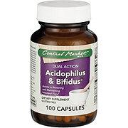 Central Market Acidophilus And Bifidus Dual Action Capsules