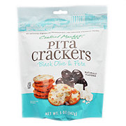 Central Market Black Olive & Feta Pita Crackers