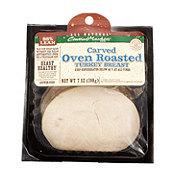 Central Market Carved Oven Roasted Turkey Breast Slices.