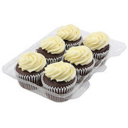Central Market Chocolate Cupcakes with Vanilla Buttercream Icing 6 count