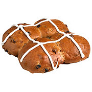 CENTRAL MARKET Hot Cross Buns 4 Count