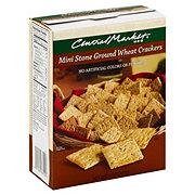 Central Market Mini Stone Ground Wheat Crackers
