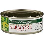 Central Market No Salt Added Solid White Albacore Tuna