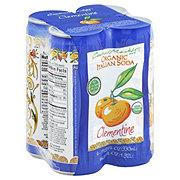 Central Market Organic Clementine Italian Soda 11.2 oz Cans