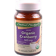 Central Market Organic Cranberry 500 Mg Vegetarian Tablets