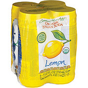 Central Market Organic Lemon Italian Soda 11.2 oz Cans