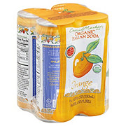 Central Market Organic Orange Italian Soda 11.2 oz Cans