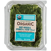 Central Market Organics Baby Spinach and Baby Arugula with Herbs Blend