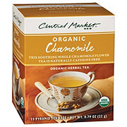 Central Market Organics Chamomile Herbal Pyramid Tea Bags