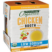 Central Market Organics Chicken Broth Low Sodium 6 Pk
