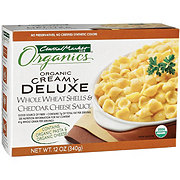 Central Market Organics Creamy Deluxe Whole Wheat Shells & Cheddar Cheese Sauce