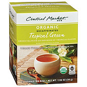 Central Market Organics Decaffeinated Tropical Green Pyramid Tea Bags