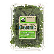 Central Market Organics Super Green Trio Spinach, Chard And Kale