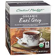 Central Market Organics Whole Leaf Earl Grey Black Pyramid Tea Bags