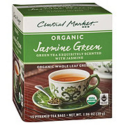 Central Market Organics Whole Leaf Jasmine Green Pyramid Tea Bags