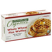 Central Market Organics Whole Wheat Flax Waffles