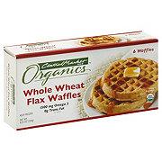 Central Market Organics Whole Wheat Flax Waffles