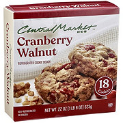 Central Market Refrigerated Cranberry Walnut Cookie Dough