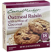 Central Market Refrigerated Oatmeal Raisin Cookie Dough