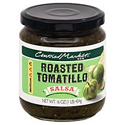 Central Market Roasted Tomatillo Medium Salsa