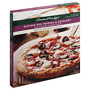 Central Market Sauteed Red Peppers and Eggplant with Pecorino Romano Cheese Pizza