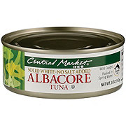 Central Market Solid White Albacore Tuna No Salt Added